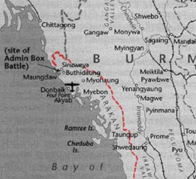 Arakan campaign map